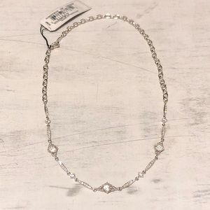 NADRI Silver CZ Embellished Choker NWT Retail $125